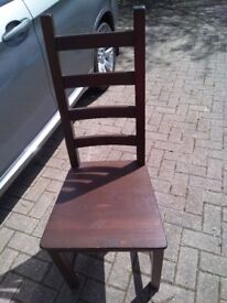 Lovely set of 4 dark wood dinning chairs