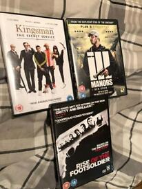 DVD Bundle - (Kingsman, ill manors, rise of the foot soldier)