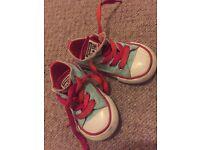 Toddler girl Converse. Size 5.