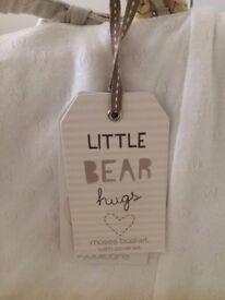 Little Bear Hugs Moses Basket