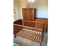 Mamas and papas Hayworth Nursery set. Children's bedroom furniture. Cotbed