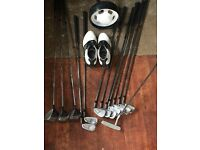 Full set Houson clubs, bag and trolley