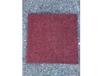 Dark red carpet tiles