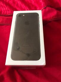 Unlocked and unopened iPhone 7 32gb black