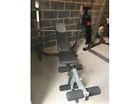Weights bench body max plus weights and dumbells