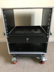 Swan Flight 12U 2 door rack case with wheels