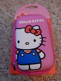 Pair of Hello Kitty camera cases - one hard, one soft. BNWT