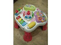 Pink Baby VTech Learning Activity Table