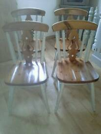 Farmhouse Chairs, fiddle back, Shabby Chic