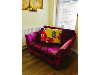 Marks & Spencer Chenille Pink Loveseat Two Seater Chair