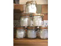 Glass preserving/storage jars