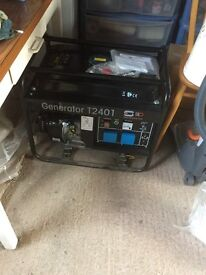 Brand new SIP petrol generator T2401 with long run tank