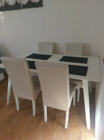 White Dinner Table (MINT CONDITION) cheap!