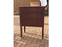 3 draw rustic wooden unit
