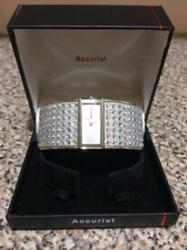 Accurist crystal bangle watch