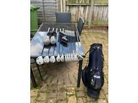 Full set of men's left handed golf clubs