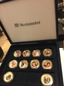 The William & Kate westminster Photographic Coin Set (10 coins)