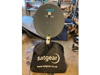 Satellite TV Kit: Satgear Premium Portable 65cm Kit with Easyfind HD Receiver