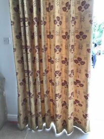 Fully lined curtains, suit opening of 1800, curtain height 2,150