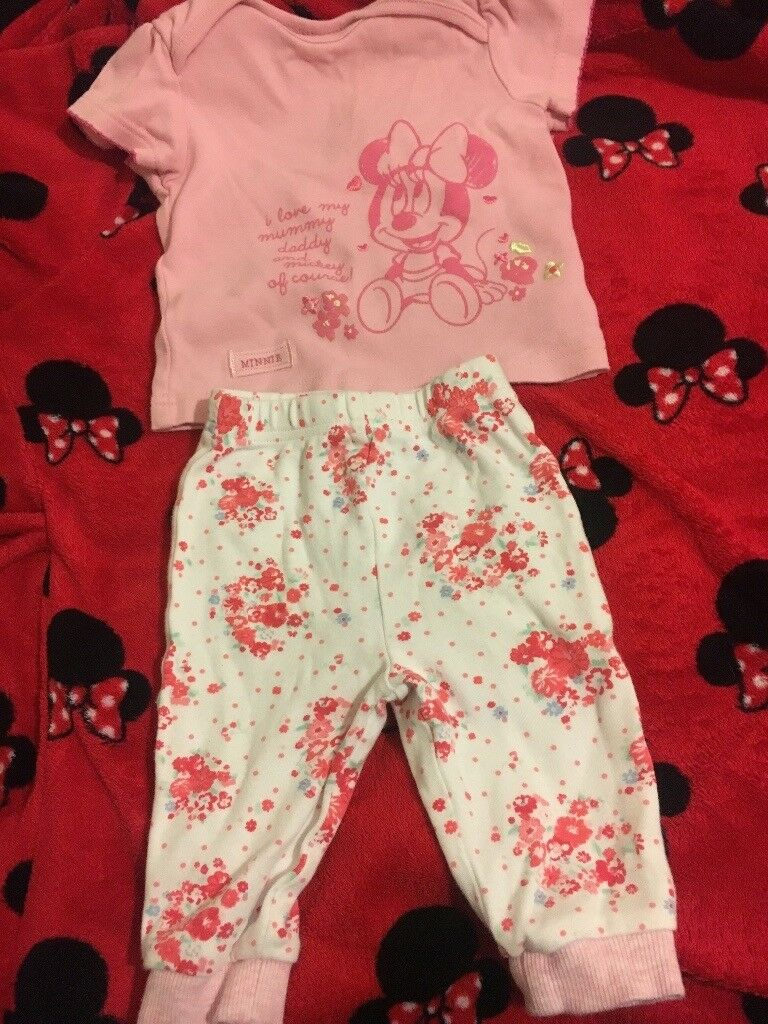 Mini mouse pyjamas 3-6