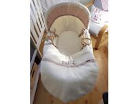 Moses Basket, Mattress & Stand