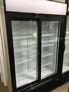DOUBLE GLASS DOOR COOLERS / COMMERCIAL FRIDGES / TRIPLE GLASS MERCHANDISER DISPLAY REFRIGERATORS / LOCK AND KEY INCLUDED