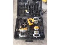 Dewalt 3 piece router kit (not festool,Mikita,Bosch)