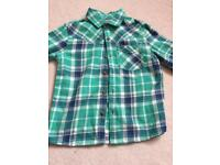 NEXT green boys shirt age 4-5 years worn once