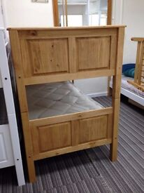 £100 !!! Bunk bed - New: Corona Style waxed Pine Panel bunk bed - New & boxed, CASH ONLY