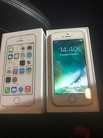 IPhone 5s White & Gold Unlocked (PERFECT)
