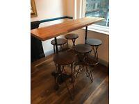 High bar long tables
