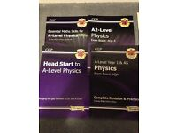 AS and A level physics revision guides.