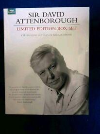 David Attenborough life on set, dvd and book set. Brand new