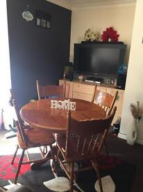 Dining Table And 4 Solid Detailed Chairs... ** DELIVERY AVAILABLE **