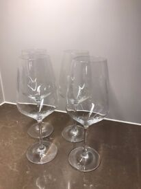 Glass Red Wine Goblets - Set of 4