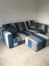 VERY COMFORTABLE SOFA, FOOTSTALL & LOVESEAT FOR SALE