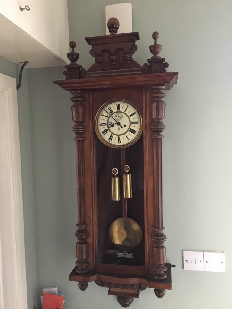 Antique Gustav Becker Wall Clock In Bangor County Down
