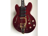 Epiphone Riviera P-93 Wine Red With Wilkinson Roller Bridge