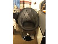 Lovely leather egg chair