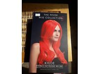 Vibrant red wig heat resistant