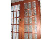 Hardwood internal room divider etc doors also single doors to match.poss del.