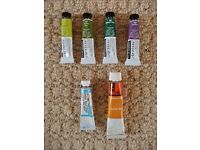 6 Tubes of Watercolour Paints Art Painting 4 X Daler Rowney Terry Harrison Collection