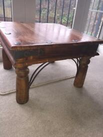 2 x Indian Wood Coffee Tables