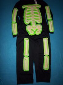 Skeleton Dress Up Outfit Age 5-7 Years IP1