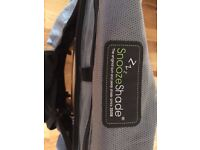 Baby pushchair snooze shade black out