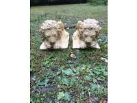 Pair Lion Garden Ornament