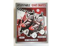 Kids Boys Girls Adjustable Roller Skates + Original Box - Childrens Size 11 - 13
