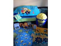Next Little Digger Boys Bedroom Accessories, huge bundle all in fantastic condition!