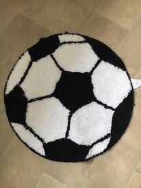 Football rug black and white