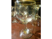 50 small used wine glasses, capacity 120cc, for collection only